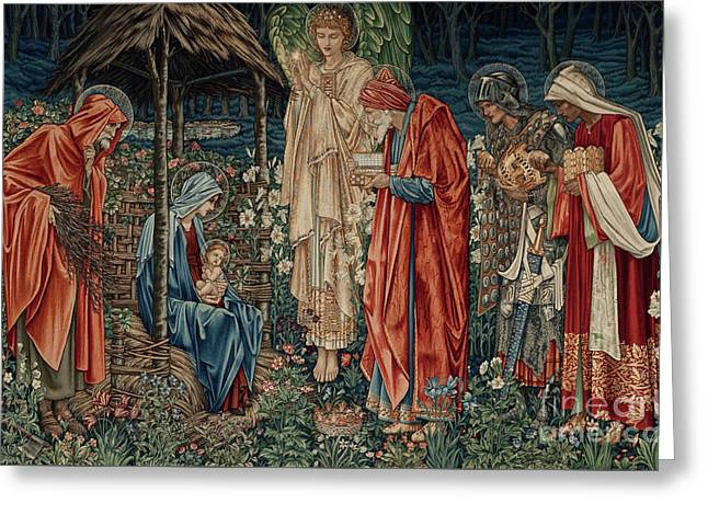 The Adoration Of Magi Greeting Card