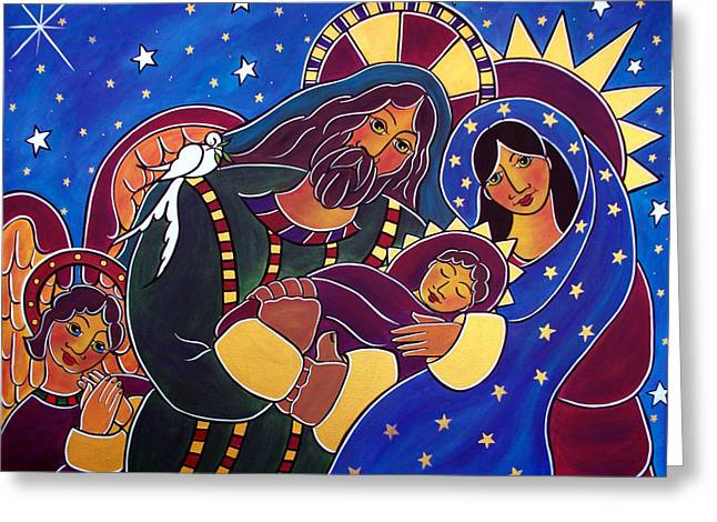The Adoration Of The Child Greeting Card