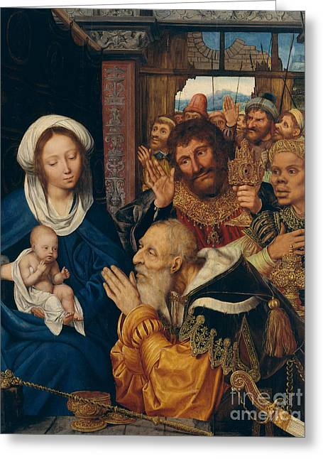 The Adoration Of The Magi, 1526 Greeting Card by Quentin Massys or Metsys