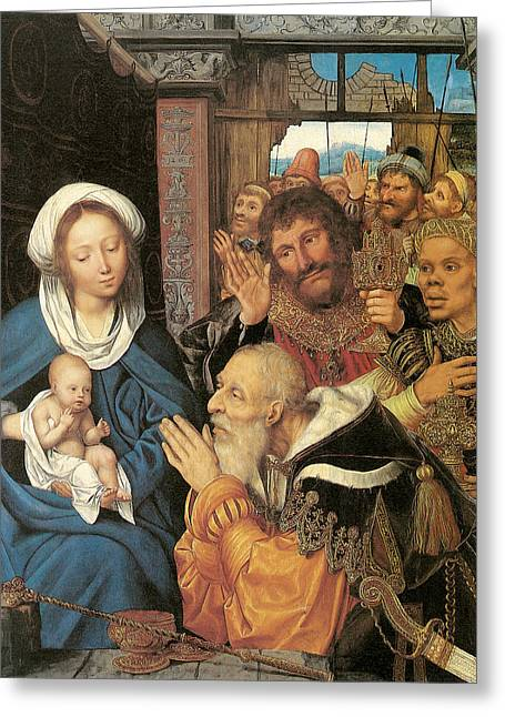 The Adoration Of The Magi Massys Greeting Card by Quentin Massys