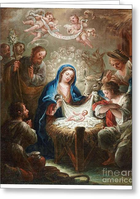 The Adoration Of The Shepherds The Annunciation The Betrothal Greeting Card