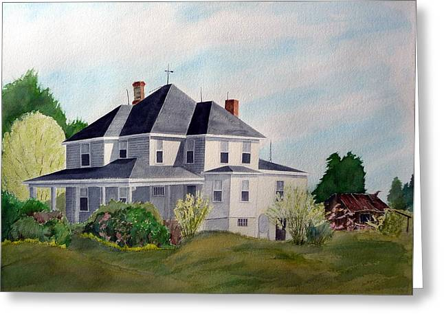 The Adrian Shuford House - Spring 2000 Greeting Card by Joel Deutsch