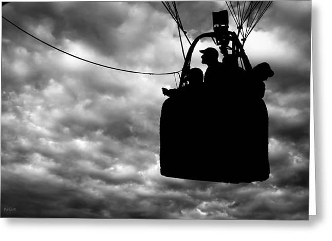 The Adventure Begins  Hot Air Balloon Greeting Card by Bob Orsillo