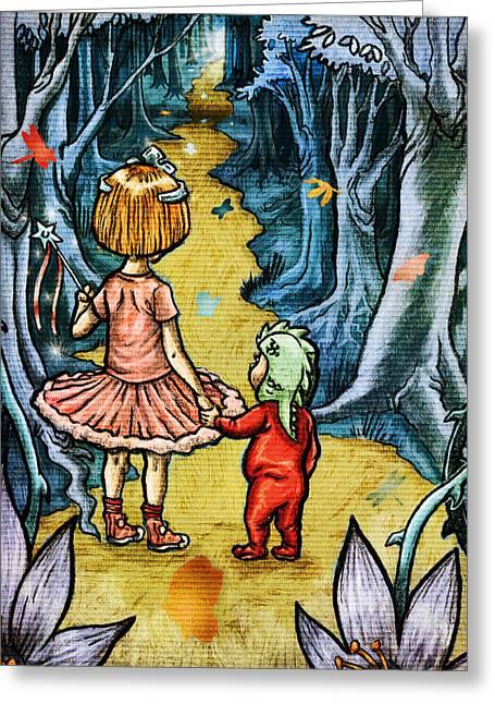 The Adventurers Greeting Card by Baird Hoffmire