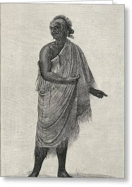 The Aged Man In His Winter Garment Greeting Card