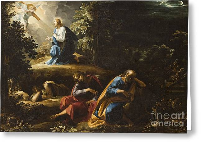 Gospel Greeting Cards - The Agony in the Garden Greeting Card by Guiseppe Cesari