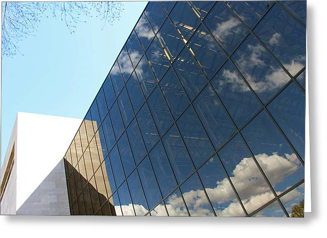 The Air And Space Museum Building Greeting Card by Cora Wandel