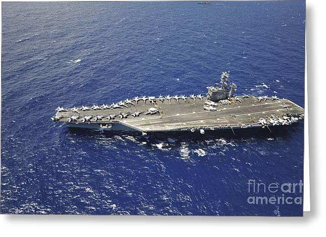 The Aircraft Carrier Uss Nimitz Greeting Card