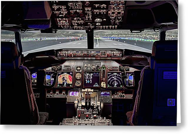 The Airline Pilot Office Greeting Card by JC Findley