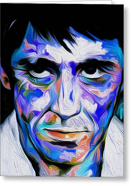 The Al Pacino Scarface By Nixo Greeting Card