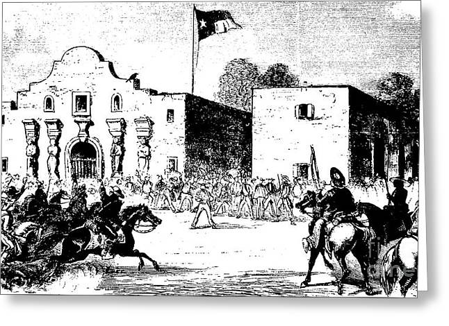 The Alamo Fort At San Antonio Greeting Card by American School