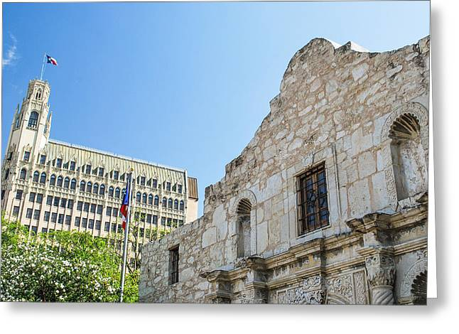 The Alamo In San Antonio Greeting Card by Gregory Ballos