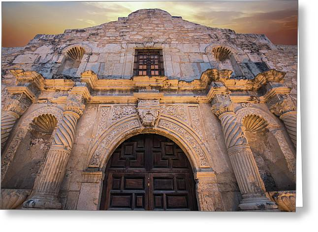 Greeting Card featuring the photograph The Alamo Under Fire - San Antonio Texas by Gregory Ballos