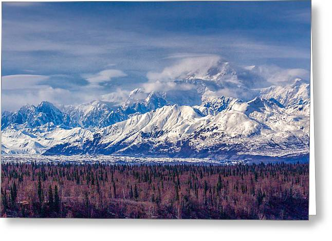The Alaska Range At Mount Mckinley Alaska Greeting Card