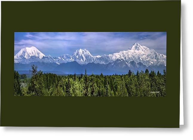 Greeting Card featuring the photograph The Alaska Range by Claudia Abbott