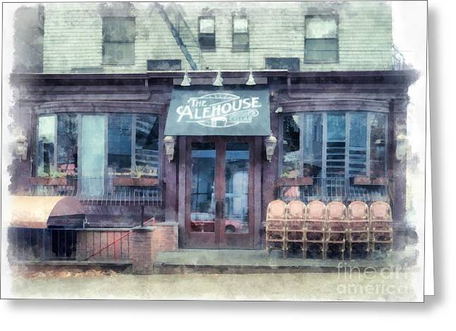 The Alehouse English Cellar Providence Rhode Island Greeting Card by Edward Fielding