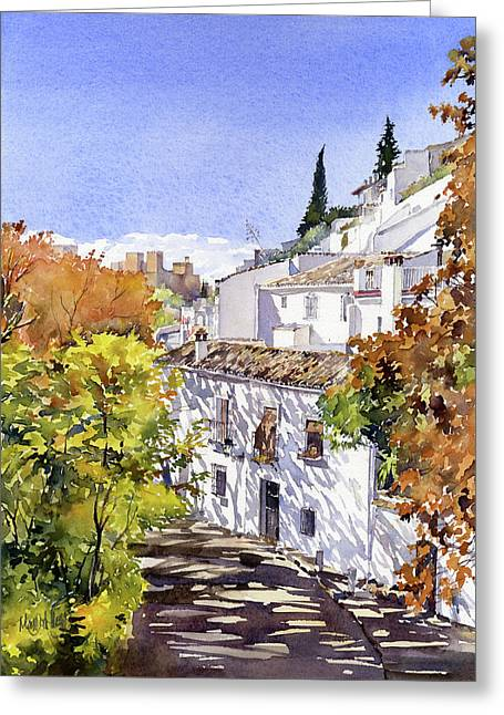 The Alhambra From Sacromonte Granada Greeting Card