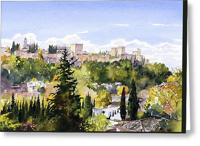 The Alhambra From Sacromonte Greeting Card