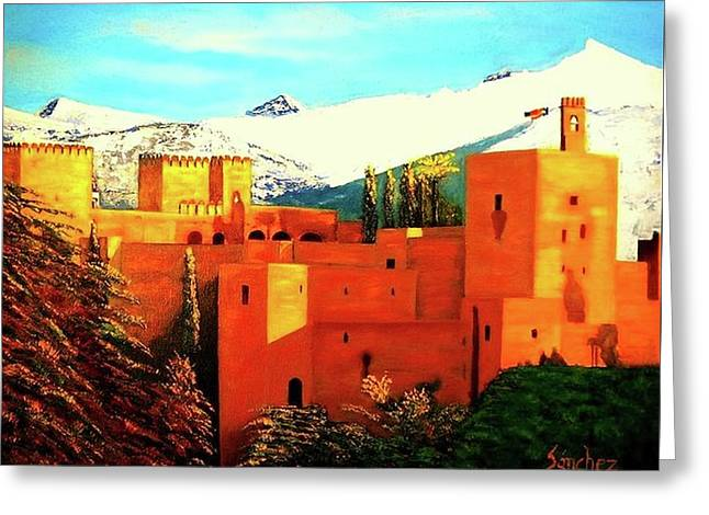 The Alhambra Of Granada Greeting Card