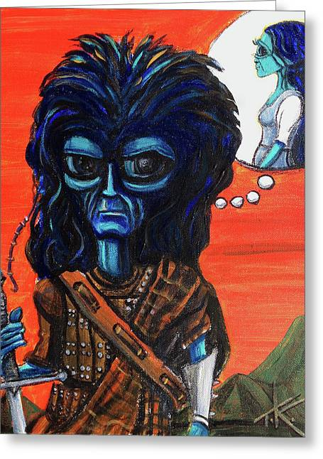 The Alien Braveheart Greeting Card