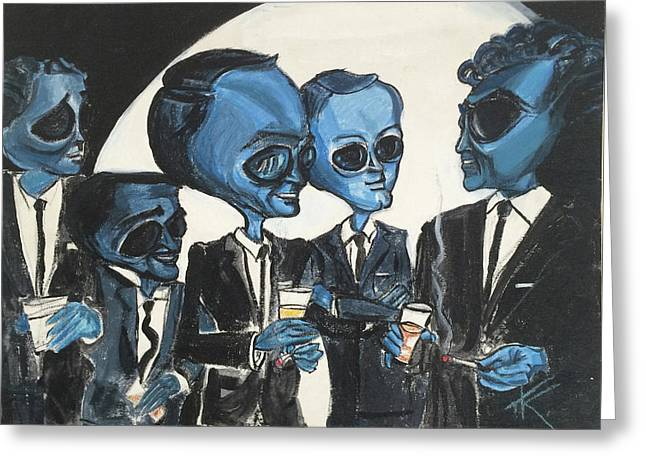 The Alien Rat Pack Greeting Card