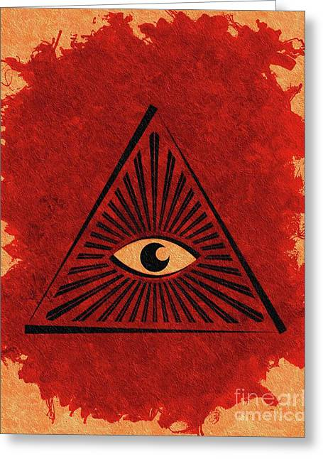 The All-seeing Eye Greeting Card