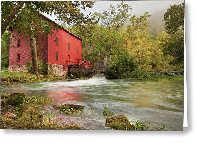 The Alley Spring Mill - Missouri Greeting Card by Gregory Ballos