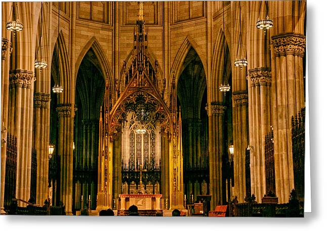 The Altar Of St. Patrick's Cathedral Greeting Card by Jessica Jenney