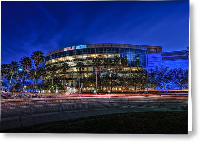The Amalie Arena Greeting Card by Marvin Spates