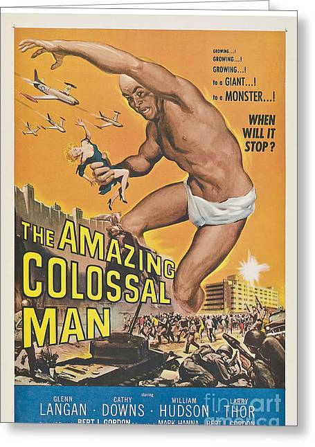 The Amazing Colossal Man Movie Poster Greeting Card