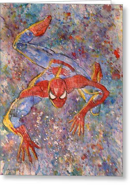 The Amazing Spider Man Greeting Card by Robert Hogg
