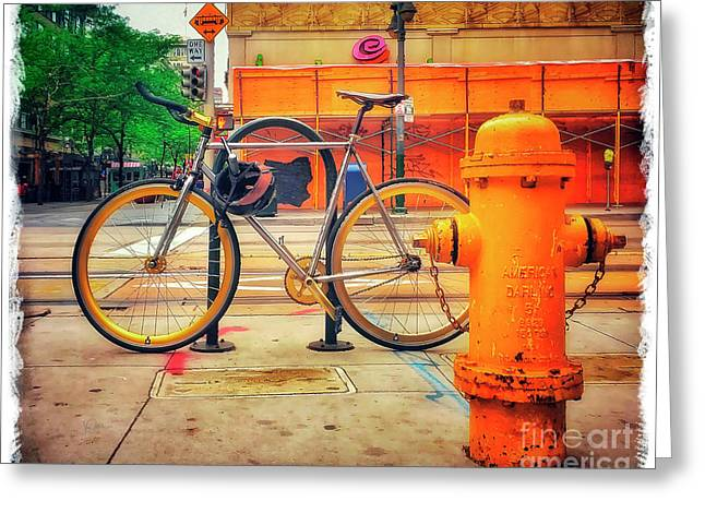 Greeting Card featuring the photograph The American Darling Bicycle by Craig J Satterlee