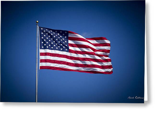The American Flag 7 Star Spangled Banner Art Greeting Card by Reid Callaway