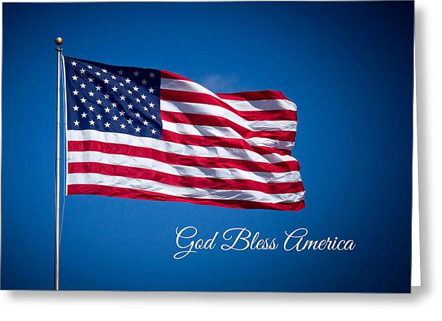 The American Flag Art 3 Greeting Card