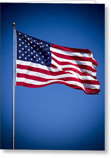 The American Flag Art 4 Greeting Card