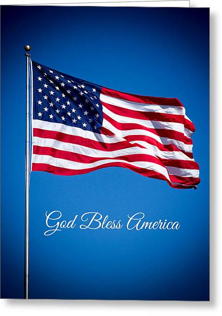 The American Flag Art 5 Greeting Card