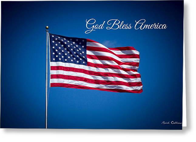 The American Flag Star Spangled Banner Art Greeting Card by Reid Callaway