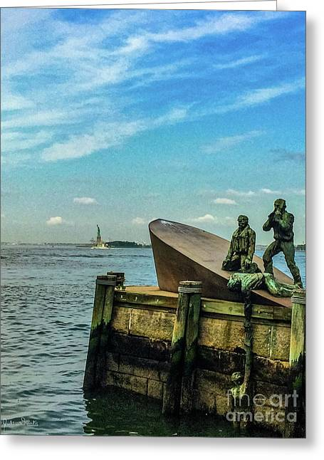 The American Merchant Mariners Memorial #1 Greeting Card by Julian Starks