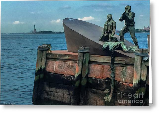 The American Merchant Mariners Memorial #2 Greeting Card by Julian Starks