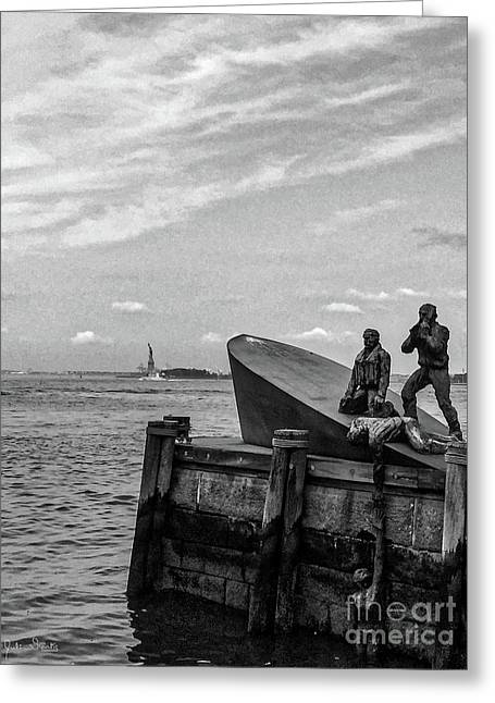 The American Merchant Mariners Memorial #4 Greeting Card by Julian Starks