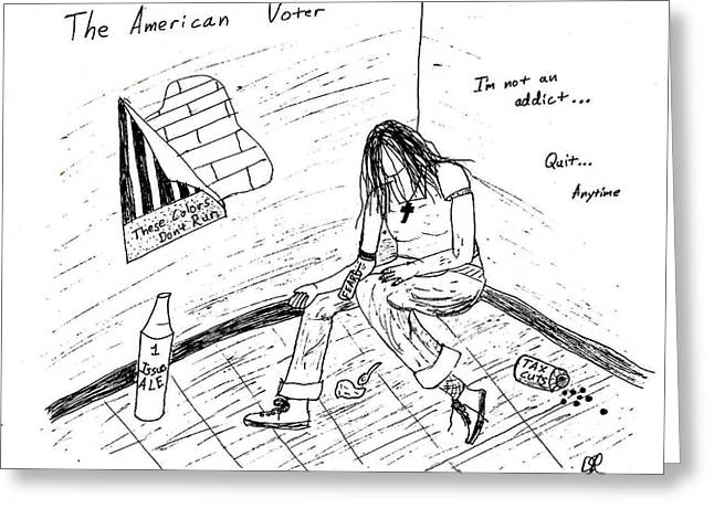 The American Voter Greeting Card by David S Reynolds