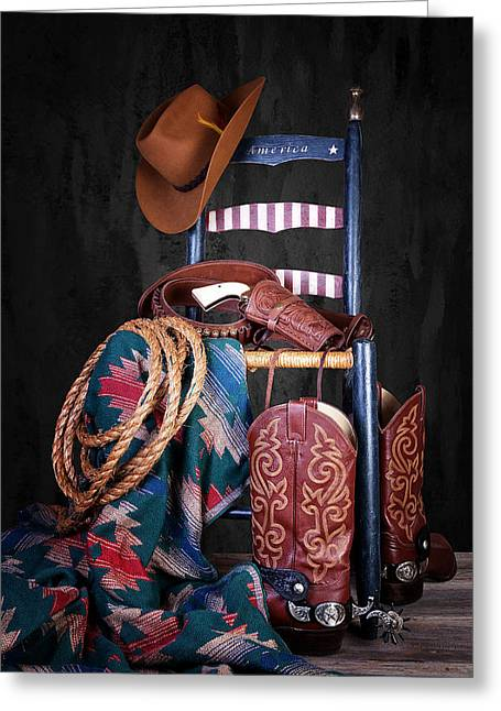 The American West Greeting Card by Tom Mc Nemar