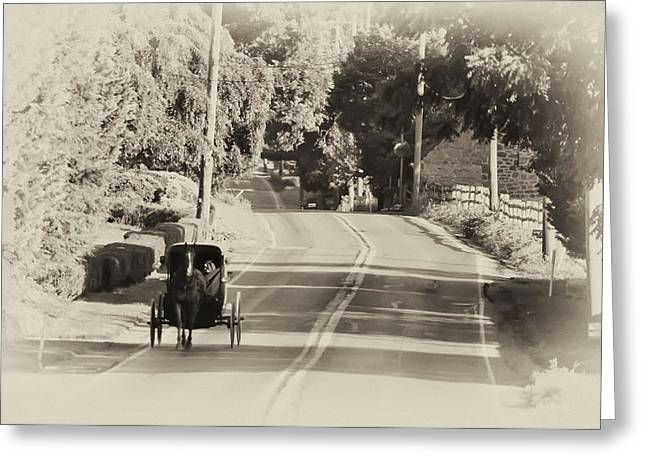 The Amish Buggy Greeting Card by Bill Cannon