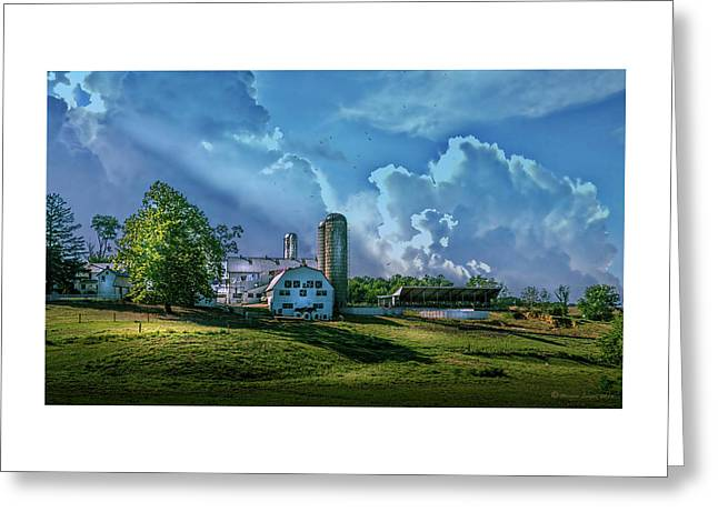 The Amish Farm Greeting Card by Marvin Spates