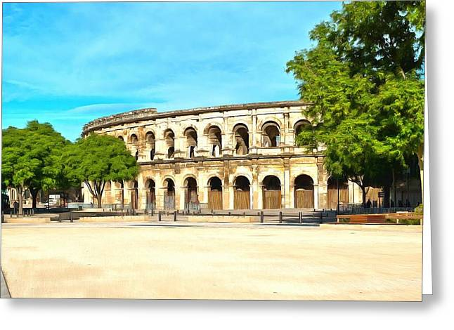 The Amphitheatre Nimes Greeting Card