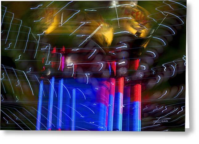 The Amusement Park Greeting Card by Barbara  White