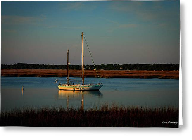 The Anchor Holds 2 Beaufort South Carolina Sailboat Art  Greeting Card