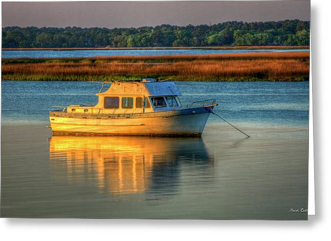 The Anchor Holds Beaufort South Carolina Boat Art Greeting Card