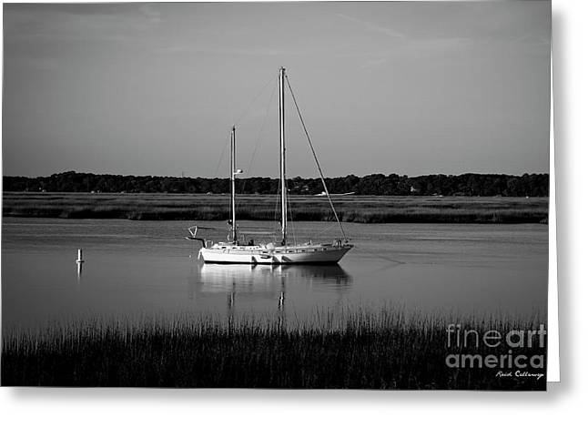 The Anchor Still Holds Beaufort South Carolina Sailboat Art  Greeting Card by Reid Callaway