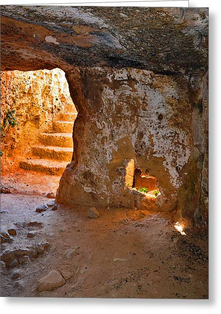 The Ancient Stone Stair. Greeting Card by Andy Za
